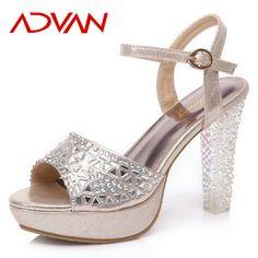 Cheap sandals unisex, Buy Quality sandals pink directly from China sandals diamond Suppliers: 2016 New Fashion Strap Women Sandals High Heels Gold Gladiator Dress Sandals Women Platform Rhinestone Heel Sandalias Mu