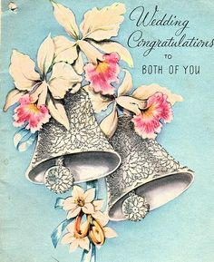 Wedding congratulations to both of you! #vintage #wedding #cards