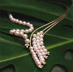 bd7289499f6f This elegant combination of Japanese Akoya Pearls