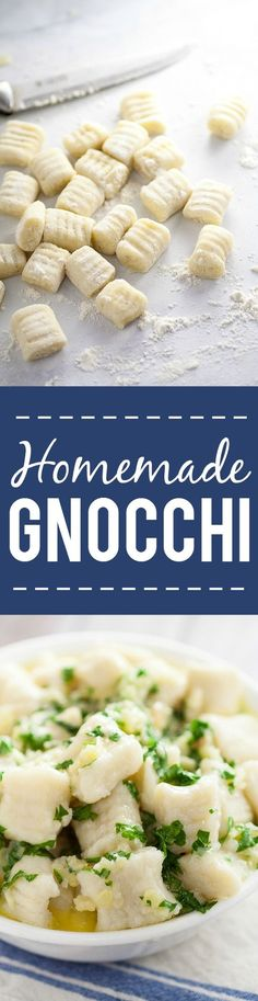 Homemade Potato Gnocchi Recipe - If you've ever wondered if you can make your own Homemade Potato Gnocchi, you can! With this easy, detailed recipe and tutorial, you'll be making your new favorite gnocchi like a pro in no time! Make your own homemade potato gnocchi to put in your favorite pasta recipe.