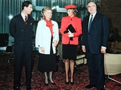 November 2 1987 Charles and Diana with Helmut Kohl and wife Hannelore