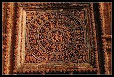 Terracotta work - Elaborate Terracotta work in Shyamrai temple of Bishnupur, West Bengal