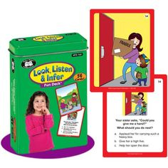 Look, Listen & Infer Fun Deck Flash Cards - Super Duper Educational Learning Toy for Kids Super Duper® Publications http://www.amazon.com/dp/1607230836/ref=cm_sw_r_pi_dp_8Yryvb0J7BSFQ