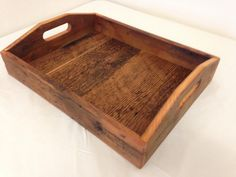 for: http://www.pinterest.com/pin/20899585746362084/ This barn wood serving tray was made from boards removed from a structure in central Arizona. The joinery that is used allows this piece to be
