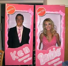 diy halloween . couple costumes - Ken Barbie How about redneck Ken /Redneck Barbie instead