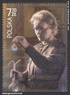 Maria Skłodowska-Curie - na polskich znaczkach pocztowych Homeland, Eagles, Stamps, American, Movie Posters, Historia, Poland, Culture, Scenery