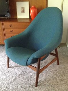 Bramin lounge chair - gorgeous reupholstery job