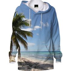 Isla Saona Caribbean Paradise Beach Hoodie from Print All Over Me #sold on #printalloverme