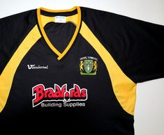 X-Large Yellow Score Draw Mens Newcastle 1980 Away Retro Football Shirt