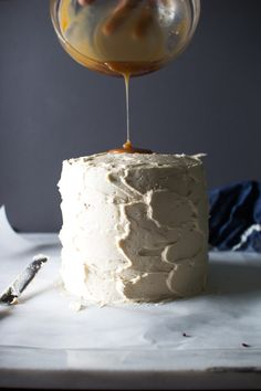 Triple Layer Chocolate Cake with Salted Caramel Buttercream Frosting | Flourishing Foodie