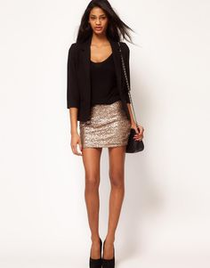 ASOS | ASOS Mini Skirt in All Over Sequins at ASOS