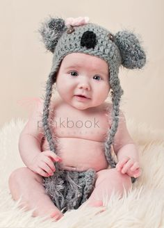 For my  Baby Koala- Hat and Diaper Cover Set Via Etsy
