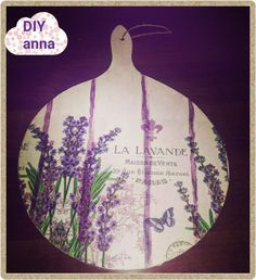 decoupage wooden kitchen cutting board DIY ideas tutorial You need wooden kitchen chopping board, acrylic paint, napkin, decoupage glue, varnish, brush, wate...