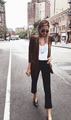 Take the velvet trend for a spin with a cool blazer