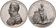 Archduke Anton Victor of Austria Grand Master of the Teutonic Order, Silver medal, commemorating 30 years in the Order, by Lang. Archduke, Holy Roman Empire, The Grandmaster, Lorraine, Anton, 30 Years, Austria, Coins, Personalized Items