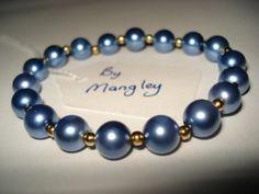 Glass Pearl Bracelet B121 £5 by Mangley Jewellery https://www.facebook.com/MangleyJewellery