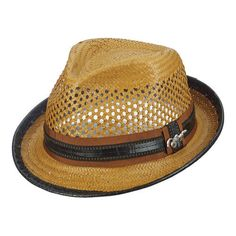 0cec4a8124e Men s Santana by Carlos Santana Vented Toyo Fedora SAN06 - Honey Hats Us  Man