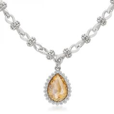 Champagne Solitare Vintage Necklace - ShoppersDelight