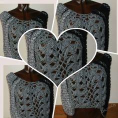 Echarpe cinzenta efectuada com tecnicas diferentes bem como diferentes fios de lã. muito elegante e confortável
