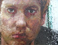 Marshall Dines: acrylic paint injected into bubble wrap. Bubble Wrap Art, Art Google, Different Styles, Appreciation, Graphic Design, Portrait, Creative, Painting, Inspiration