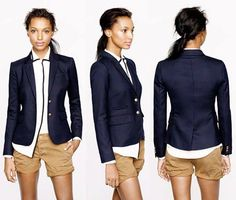 {STYLE INSPIRATION} How cute is this outfit? Love it!! xx ~J. Crew Schoolboy Blazer