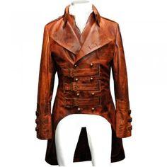 Impero London Luxury Steampunk Antique Tan Tailcoat & Waistcoat Military Emsemble