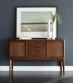 Oslo Sideboard  | Crate and Barreling sale. I love this. Reminds me of my grandpas house.