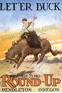 Poster of Pendleton Round Up Rodeo   Cowboy by LuckyStarsRanchTX, $24.99