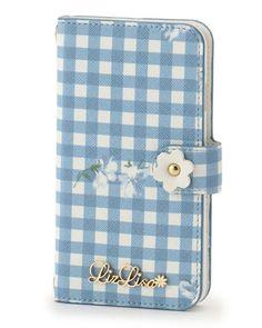ギンガムフラワーiPhoneケース