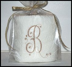 Embroidered Monogram Toilet Paper Bathroom by ALaMadeGifts on Etsy ...