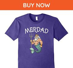 Mens Merdad TShirt Father of A Mermaid Birthday TShirt 2XL Purple - Birthday shirts (*Amazon Partner-Link)