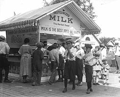 Milk stand at the Dairy Building at the Minnesota State Fair, 1924