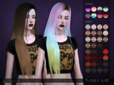 Sims 4 Hairs ~ The Sims Resource: Daylily Hair by LeahLillith - hair peinados Sims 4 Cas, Sims Cc, My Sims, Sims 4 Game Mods, Sims Mods, Teen Hairstyles, Female Hairstyles, The Sims 4 Cabelos, Pelo Sims