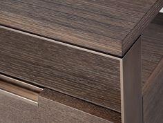 Fortis Nightstand by Holly Hunt Furniture Sets Design, Modern Furniture, Joinery Details, Holly Hunt, Metal Trim, Assemblage, Architect Design, Credenza, Hardware