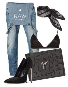"""x"" by pellyke ❤ liked on Polyvore featuring G-Star Raw, Giuseppe Zanotti, Casadei, NYX and DKNY"
