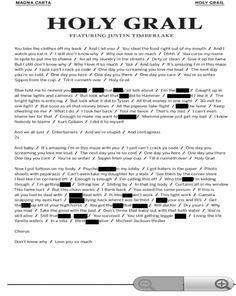 Editorial: Jay-Z (@S_C_) » Holy Grail [Lyric Sheet]