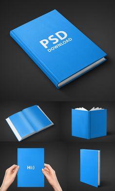 Free Book Mockups PSD                                                                                                                                                      Más