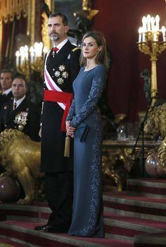 Su Majestad el Rey Felipe VI, Su Majestad la Reina consorte Letizia.