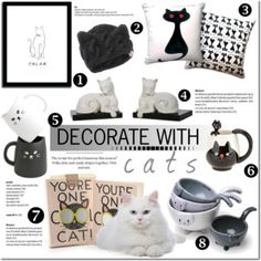 Decorate with cats