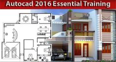 tutorial is specifically designed for beginners and based on Plan creation for an architectural house.AutoCAD tutorial is specifically designed for beginners and based on Plan creation for an architectural house. Autocad 2016, Learn Autocad, Architecture Portfolio, Architecture Plan, Architecture Drawings, Bad Room Ideas, Building Information Modeling, Site Plans, Urban Planning