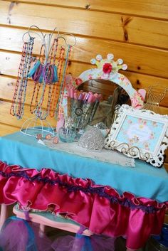 Let's Have a Ball! Parties and Events - Shabby Chic Baby princess 1st birthday party - dress up - party favors