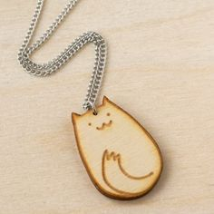 happy kitty necklace