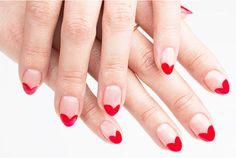 Uñas decoradas con preciosos corazones | Decoración de Uñas - Manicura y NailArt