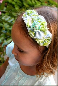 Fabric Bows and More: Frayed Rosette Headband by Budget Beautiful DIY