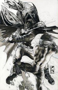 Batman vs Ra's al Ghul by Simone Bianchi