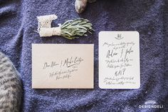 Calligraphy by hand – Invitation Stationery Stationery Design, Place Cards, Lavender, Place Card Holders, Calligraphy, Invitations, Navy, Hale Navy, Lettering