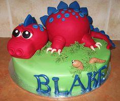 3D dinosaur cake.  by Bee's Cake Design, via Flickr