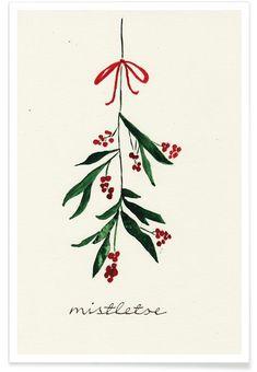 Mistletoe als Premium Poster von Nathalie Köslin   JUNIQE