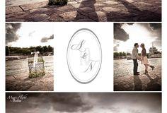 Un faire part de mariage avec un logo personnalisé. Des photos de couple qui vous ressemble.