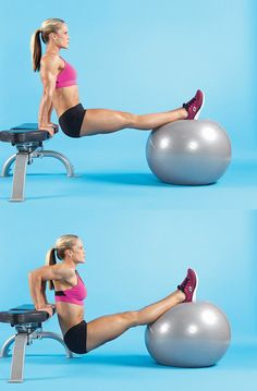 Stability Ball/Bench Dip